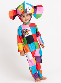 Elmer The Elephant Multicoloured Costume (1-6 years)