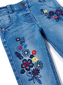 Denim Embellished Jeans (9 months-6 years))
