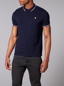 Admiral Navy Tipped Polo