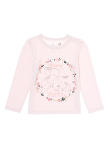 Pink Bunny Printed Tee (0-24 months)
