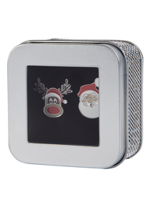 Christmas Multicoloured Santa & Rudolph Cufflinks