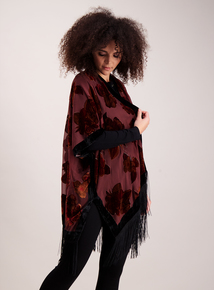 Multicoloured Devoré Floral Cape