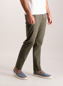 Khaki Slim Fit Chinos With Stretch
