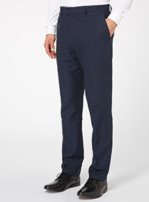 Navy Linen Rich Trousers