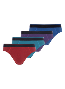 Multicoloured Bright Striped Slips 4 Pack