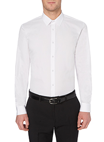 White Slim-fit Shirts 2 Pack