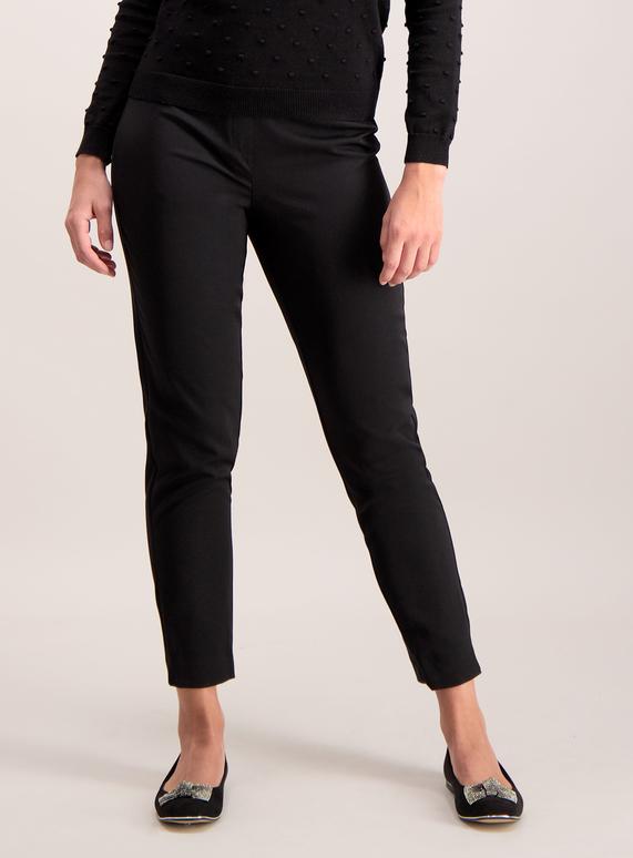 54bedbe2ea83 Womens Black Tapered Slim Leg Trousers | Tu clothing