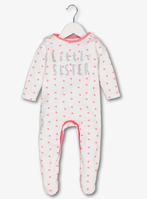 Online Exclusive Pink 'Little Sister' Sleepsuit (Newborn -24 Months)