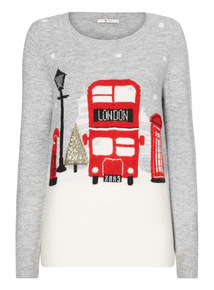London Bus Snow-Scene Jumper