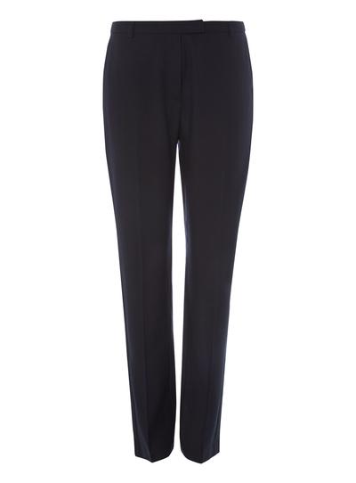 eef75490f0 Womens Navy Pinstripe Slim Leg Trousers