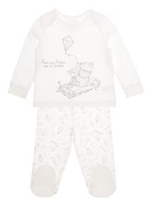 Unisex Cream Winnie the Pooh Pyjamas (0-24 months)