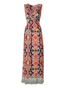 Havana Aztec Print Maxi Dress