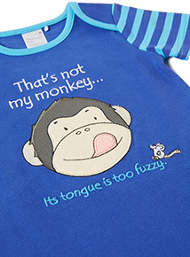 Blue Thats Not My Monkey Romper (Newborn-24 months)