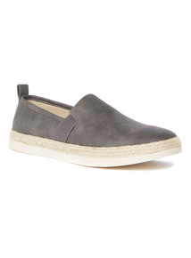 Grey Textured Espadrilles