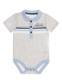 Grey Stripe Bodysuit (0 - 24 months)