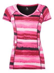 Pink Blurred Line T-Shirt