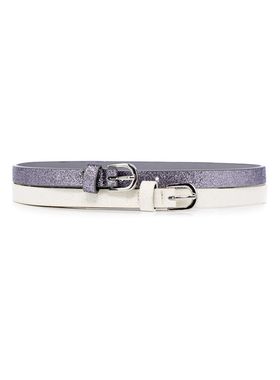 Silver And White Two Pack Glitter Belt (3-12 years)