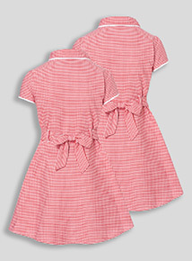 2 Pack Red Classic Gingham Dresses (3-12 years)
