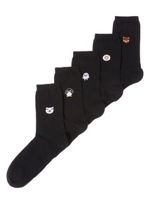 5 Pack Winter Placement Cotton Socks