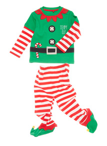 Green Christmas Elf Pyjama Set