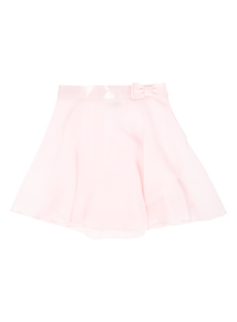 Girls Pink Ballet Wrap Skirt (2-10 years)