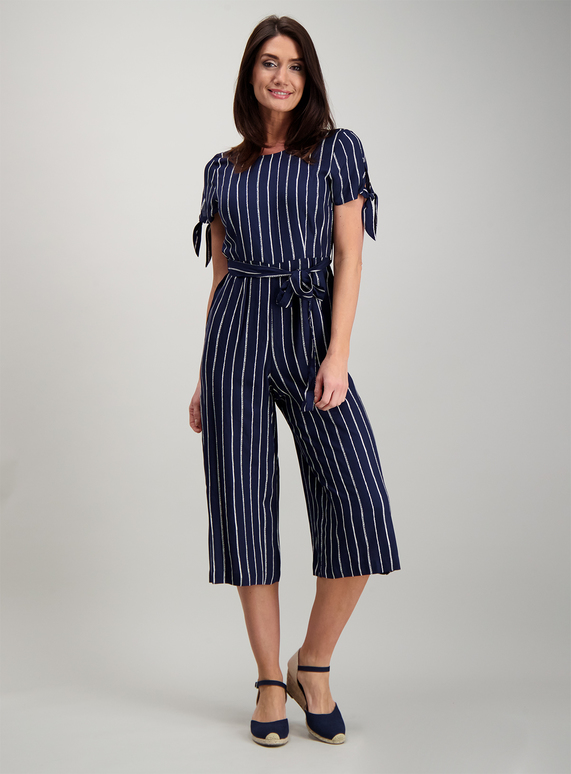 best quality for hot-selling latest timeless design SKU: ROME STRIPE JUMPSUIT:Navy