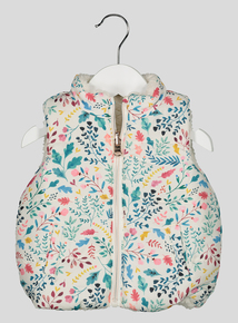 Cream Reversible Floral Gilet (0-24 months)