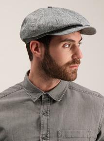 Grey Chambray Baker Boy Hat