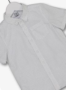White Formal Short Sleeve Shirt (3-14 years)