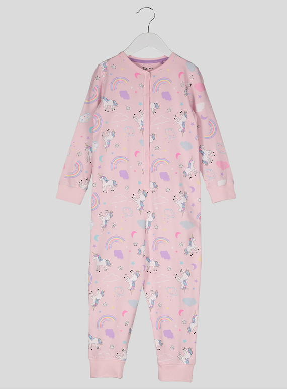8b2b09d5d984 Kids Pink Rainbow Unicorn All in One (2-12 years)