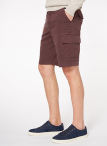 Purple Canvas Cargo Shorts