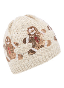 Gingerbread Print Hat