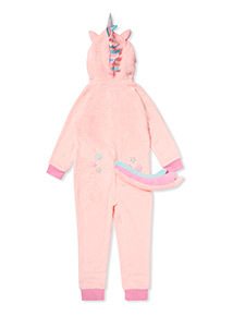 Pink Unicorn Fleece All-In-One (3-14 years)