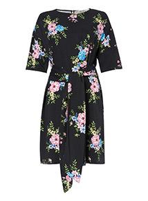 Floral Knot Detail Dress