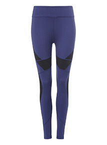 Blue Reversible Active Leggings
