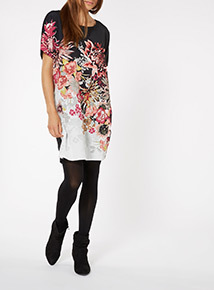 Multicoloured Woven Front Printed Tunic