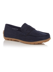 Boys Navy Smart Loafer