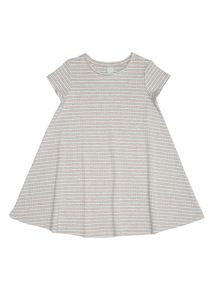 Grey Jersey Rib Dress (9 months - 6 years)
