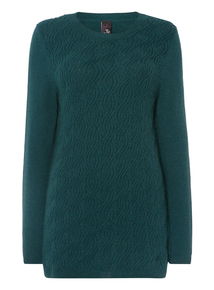 Gok Green Cable Knit Tunic