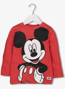Kids Disney Mickey Mouse Red Top (9 months -6 years)
