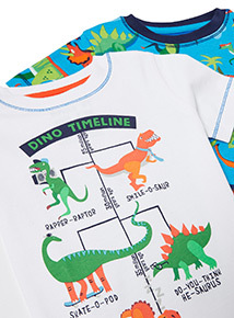 Blue T-Rex Pyjama Set (1-6 years)