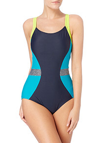 Womens Multicoloured Sports Swimsuit