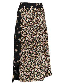 Multicoloured Floral Hanky Hem Skirt
