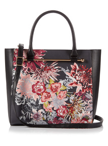 Multicoloured Orient Printed Shopper Bag