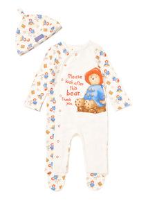 Cream Paddington Sleepsuit With Hat (0-24 months)