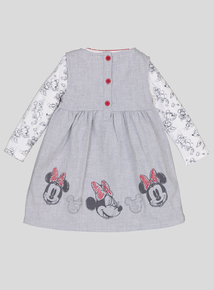 Disney Minnie Mouse Grey Dress 3 Piece Set (0-24 Months)