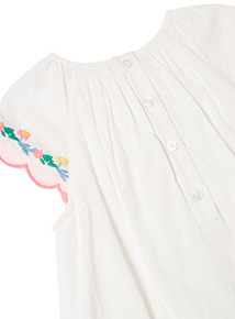 White Embroidered Dress (0-24 months)