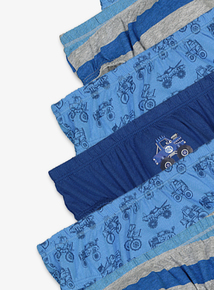 Blue Monster Truck Briefs 10 Pack (18 Months - 6 Years)