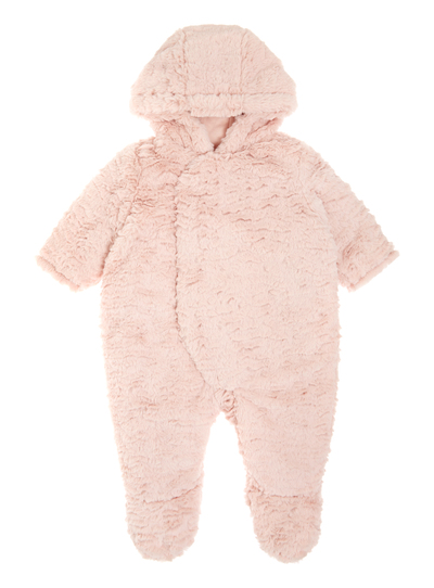 d5ca1229c Baby Girls Pink Faux-Fur Pramsuit (0-12 months)