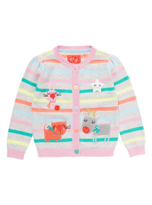 Multicoloured Christmas Cardigan (9 months-6 years)